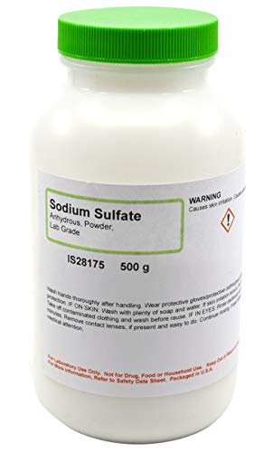 Laboratory-Grade Sodium Sulfate, Powder, Anhydrous, 500g - The Curated Chemical ()