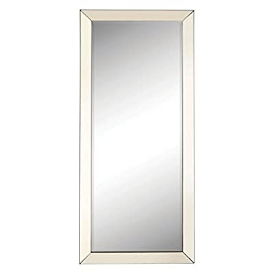 Coaster Furniture Beveled Floor Mirror - 30W x 70H in. - Dimensions: 30W x 1D x 70H in. Mirror features a silver beveled edge mirrored frame This full length mirror in a silver finish is ideal for a bedroom and other living areas within your home - mirrors-bedroom-decor, bedroom-decor, bedroom - 31PQ8U2hK7L. SS400  -