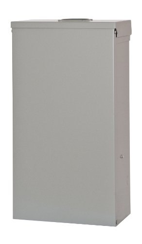 Siemens TL37US Talon Temporary Power Outlet Panel with a 20 and 30-Amp Receptacle Installed, Unmetered