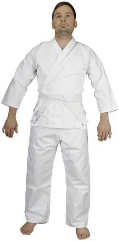 TaeKwonDo w Free Belt KD ELITE White Cotton//Poly Martial Arts Uniforms Karate