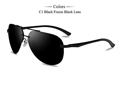 conductores gafas Gafas pistola Marco hombres de C1 C2 de de Frame Black espejo TIANLIANG04 Gafas femenino hombres de gafas masculino magnesio polarizadas aluminio sol de T6HTzwxOq1