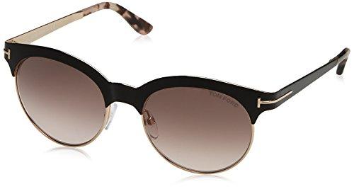 Tom Ford Sunglasses TF 438 Angela 01F Black & Pink Tortoise 53mm ()