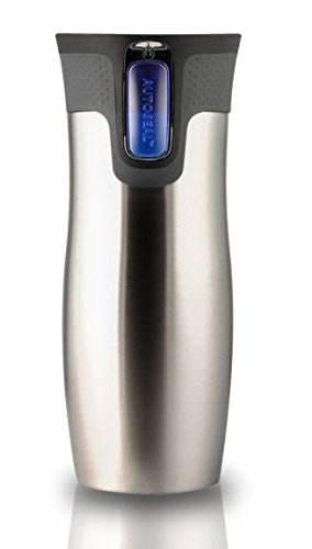 Contigo West Loop Autoseal Travel Mug 2.0 - New Model With Lid Lock - 470ml (Stainless Steel) - OTHER COLOURS AVAILABLE