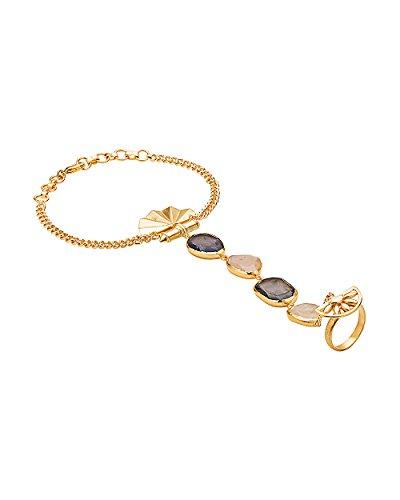 Voylla Women's Classy Gold Tone Slave Bracelet For Women by Voylla
