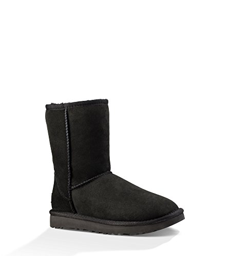 UGG Women's Classic Short II Winter Boot Black 9 B for sale  Delivered anywhere in USA