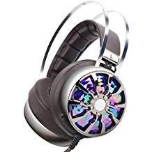 (PC Gaming Headset with Microphone, Wired Over Ear USB Gaming Computer Headphones Noise Canceling with 7.1 Virtual Surround Sound 3D Vibration 4 Speakers with Hidden Mic, Vibration Control, LED Light)