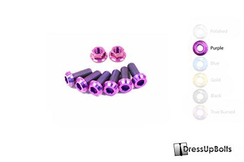 Titanium Dress Up Bolts Strut Tower Brace/Bar Kit for Nissan 350Z (Z33) (2003-2008) (Purple)