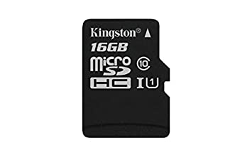 Kingston Digital 16GB microSDHC Class 10 UHS-I 45R Flash Card (SDC10G2/16GBSP)