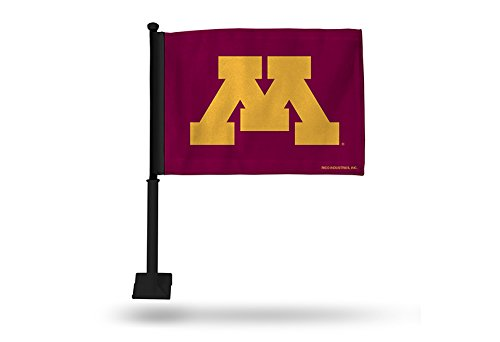 Rico NCAA Minnesota Golden Gophers Car Flag, Maroon, with Black Pole by Rico