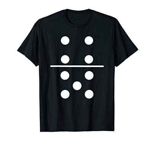 Halloween Costumes For A Group Of 5 (Domino 4 and 5 Matching T-Shirt Halloween Group Costumes)