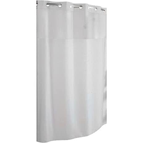 Hookless RBH40LS01 Fabric Shower Curtain   White