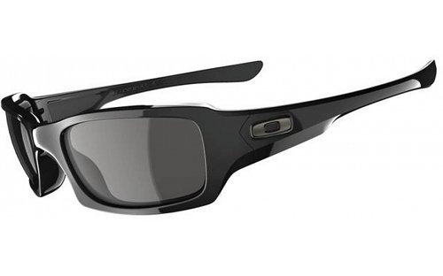 Oakley Men's Fives Squared OO9238-04 Rectangular Sunglasses, Polished Black, 54 - Oakley Sunglasses