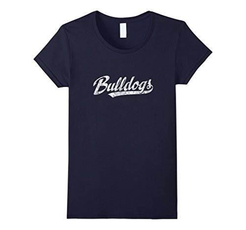 Womens Bulldogs Mascot T Shirt Vintage Sports Name Tee Design XL (Mascot Dog Clothes)