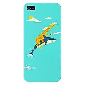 WQQ ballenas y modelo de la jirafa de nuevo caso para iPhone5 / 5s