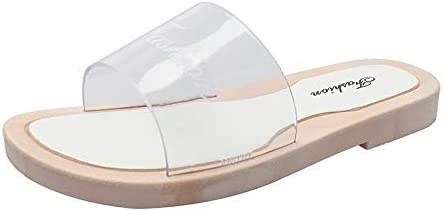 Transparent Word with Flat Slippers Outside Wearing Beach Sandals Shoes LOVOZO Sandals for Womens