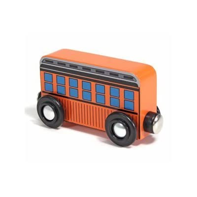 Melissa & Doug Wooden Train Passenger Car -1471 (1-Car): Toys & Games