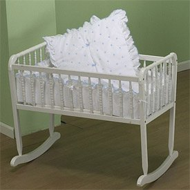 BabyDoll Pindot Cradle Bedding, White Dots, 18 ''x 36''