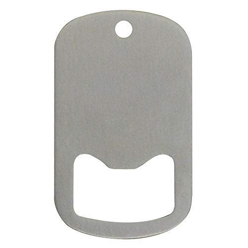(Middle Slot Dog Tag Bottle Openers Stainless Steel 25 Pieces)