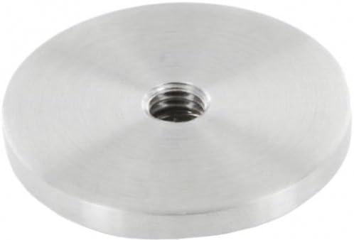 zum Aufschwei/ßen V4A Platte mit M8 Innengewinde f/ür Rohr /ø 42,4mm
