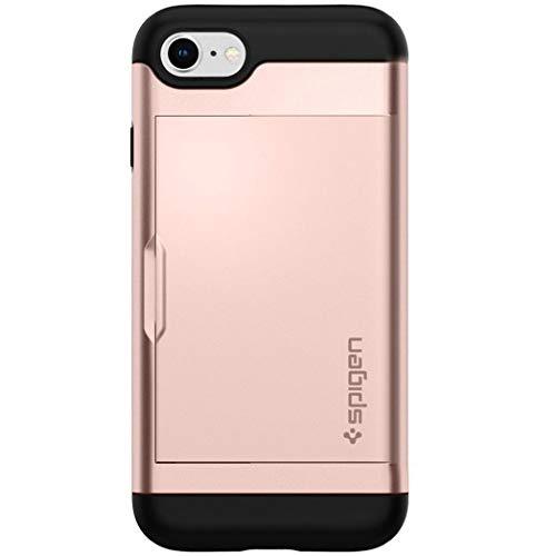 Spigen Slim Armor CS Designed for Apple iPhone 8 Case (2017) / Designed for iPhone 7 Case (2016) - Rose Gold (Iphone 7 Phone Case With Card Holder)