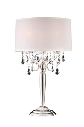 Modern Contemporary Crystal Silver Table Lamp Crystal