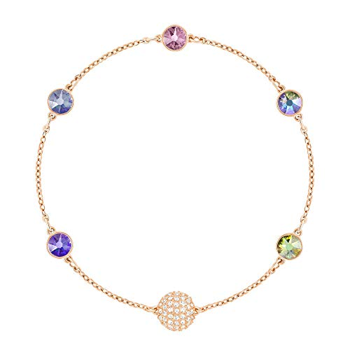 (Swarovski Remix Collection Rose Gold-Plated Multi-Colored Crystal Strand, Size Medium)