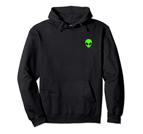 Alien Head Pocket Patch Area 51 Hoodie Sweatshirt