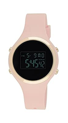 Moulin Ladies Pastel Color Digital Jelly Watch Dark Screen Pink #03158-77474