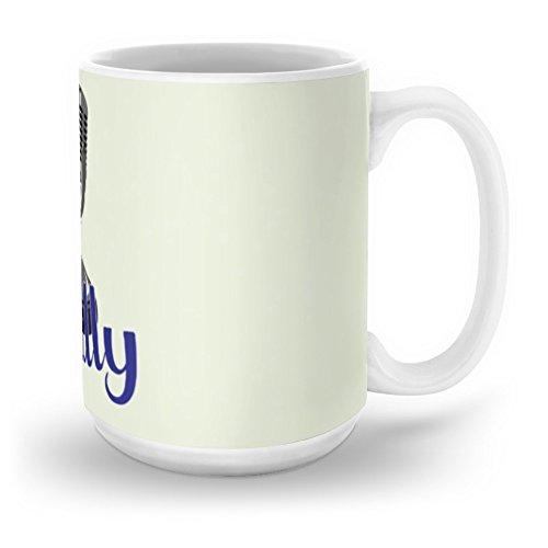 Society6 Vin Scully Mic Mug 15 oz