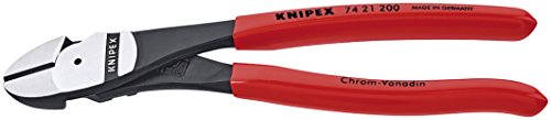 Knipex 7421200SBA 8-Inch High Leverage Angled Diagonal Cutters
