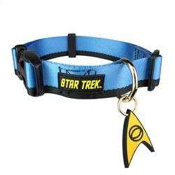 Star Trek Dog Collar Blue Small - Boldly go where no other dog has gone before