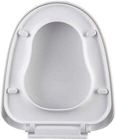 太いPPプラスチックトイレカバートイレ細長い便座台形形状のトイレカバートイレリングユニバーサルスロークローズ大型U字型商業WCトイレボウルふた (Size : 400×460MM)