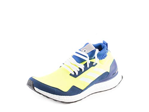 adidas Mens Ultra Boost Mid Prototype Yellow/Blue/Grey Woven Size 9