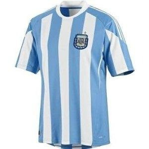 Kids Argentina World Cup Home Soccer Jersey with shorts Size 28 YXL age 9-12 y.o