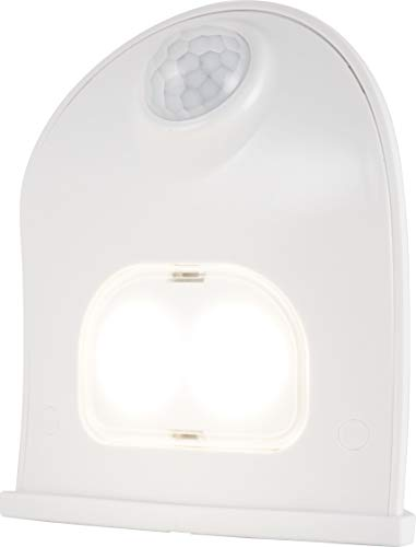 Energizer LED Motion-Activated Security Light, Battery Operated, 40 Lumens, Wireless, Indoor/Outdoor, Over-The-Door, Ideal for Entryway, Porch, Patio, Basement, Shed, Garage, 38184