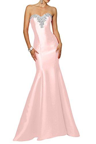 mia Kleider Herzausschnitt Festlichkleider Meerjungfrau Rosa Abendkleider Lang Neu La Perlen Ballkleider Braut Pink Jugendweihe AgdAq8