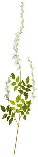Heybee 12 Piece Artificial Silk Wisteria Vine Rattan Hanging Flower for Fairy Romantic Wedding Décor, White