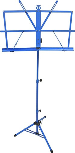 Sky Brand New Lightweight Adjustable Folding Music Stand with Carrying Bag, Blue