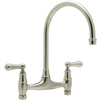 Rohl U.4791L STN 2 Perrin U0026 Rowe Bridge Kitchen Faucet In Satin