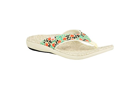 Yumi Fashion - Spenco Women's Yumi Bloom Sandal, Marshmallow, 6 M US
