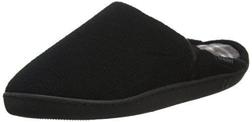 Isotoner Cable Knit Bootie Slippers, Pantofole Uomo, Nero (Black), 41/42 EU
