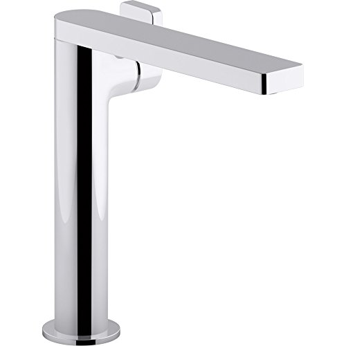 KOHLER K-73168-4-CP Composed Tall Single-Handle Bathroom Sink Faucet with Lever Handle, Polished Chrome by Kohler