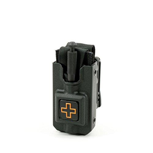 Black Pvc Holster Case - RIGID Tourniquet Case for SOFTT and SOFTT-W With Tek-Lok Belt Attachment (Black)