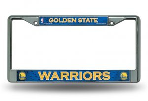 Rico Golden State Warriors Chrome Metal License Plate ()