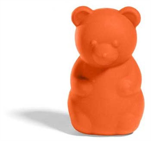 Gimme Gummy Stuffable Bear-Shaped Dog Toy, Small, Tomato, My Pet Supplies