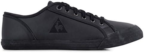 le coq sportif black leather shoes