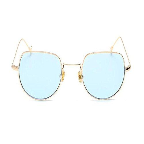 Marco Clásico Dorado de Vintage Gafas Azul Metal Súper Mujer Retro Xinvision Moda Señoras Gafas sol ligero Rectangulares zwCfxPTf