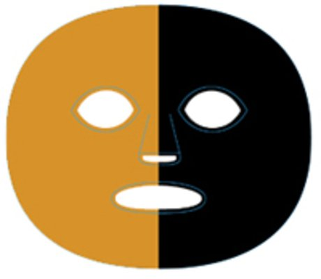 (The Gameface Company Sport Face Orange and Black Splitface Temporary Tattoo)