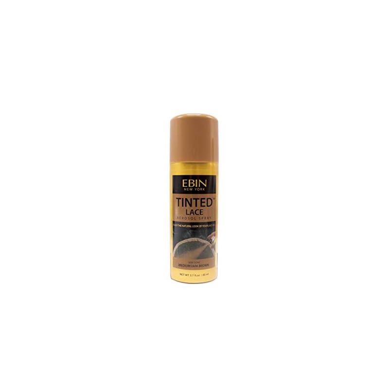 EBIN NEW YORK Tinted Lace Aerosol Spray - Medium Dark Brown