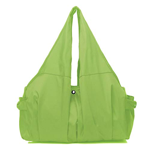 Shoulder Bag for Women, Waterproof Shopping Lightweight Work Purse and Handbag Travel Tote Oxford Nylon Large Capacity Hobo (Bright Green) ()